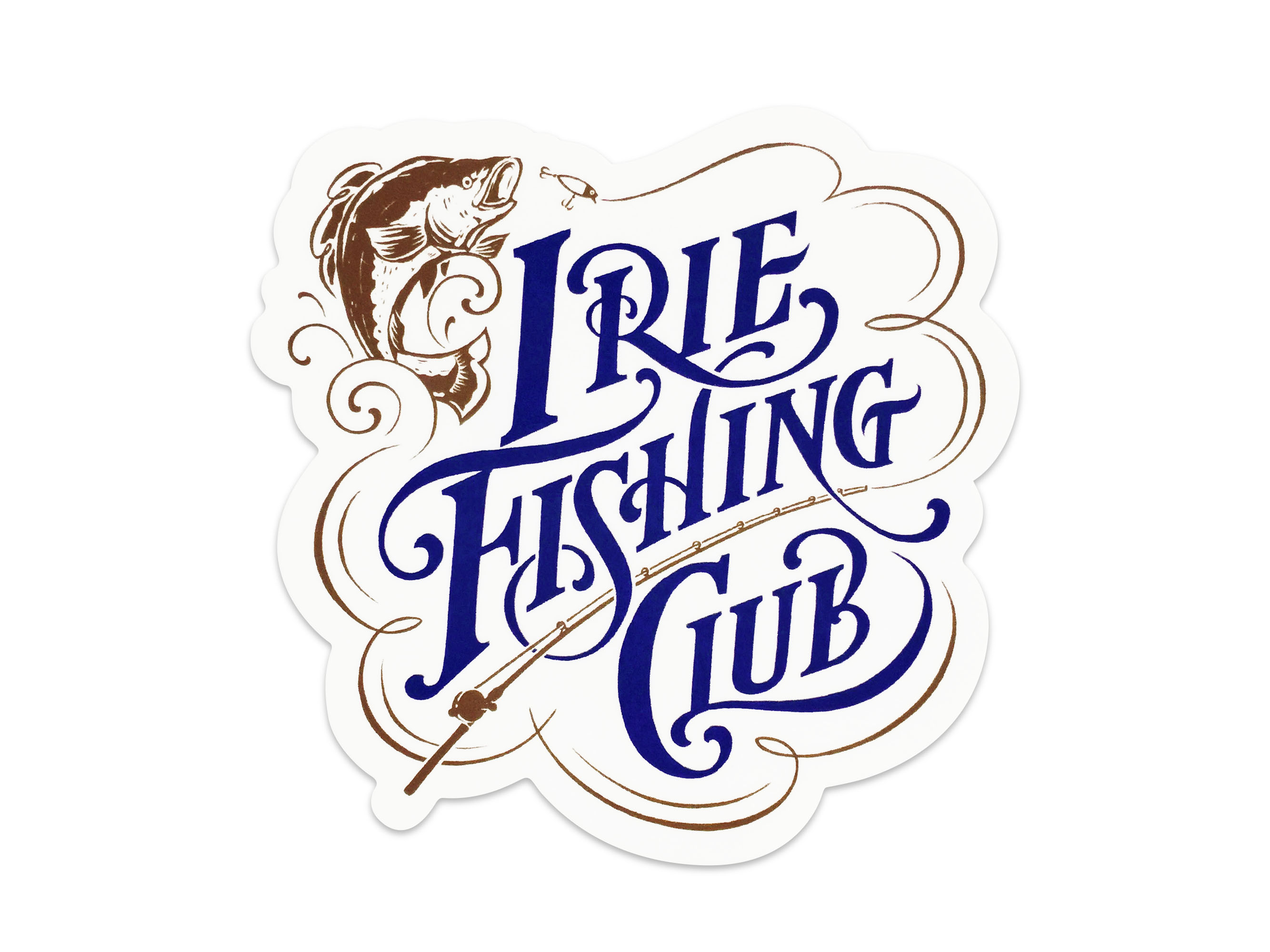 ×NATURALLY PAINT TYPOGRAFHY STICKER - IRIE FISHING CLUB