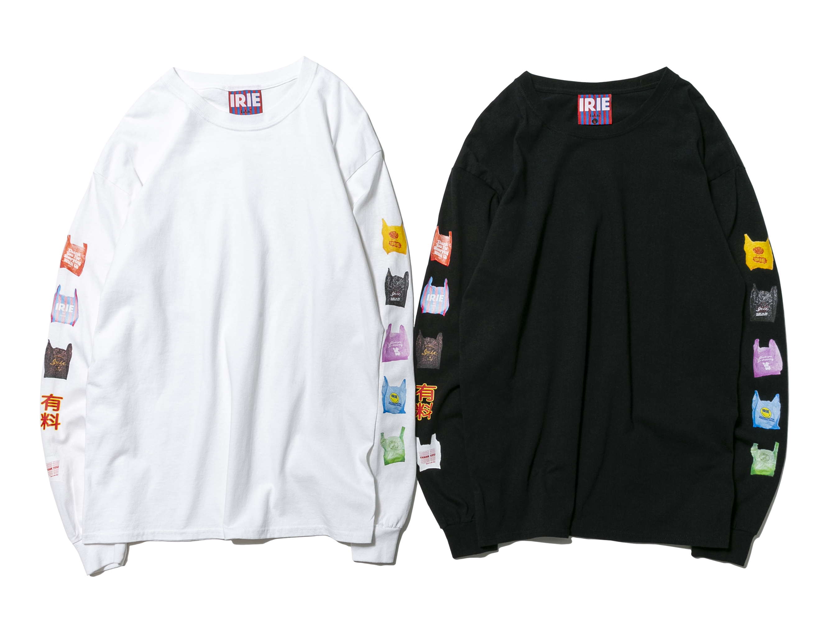 【20% OFF】PLASTIC BAG L/S TEE - IRIE by irielife