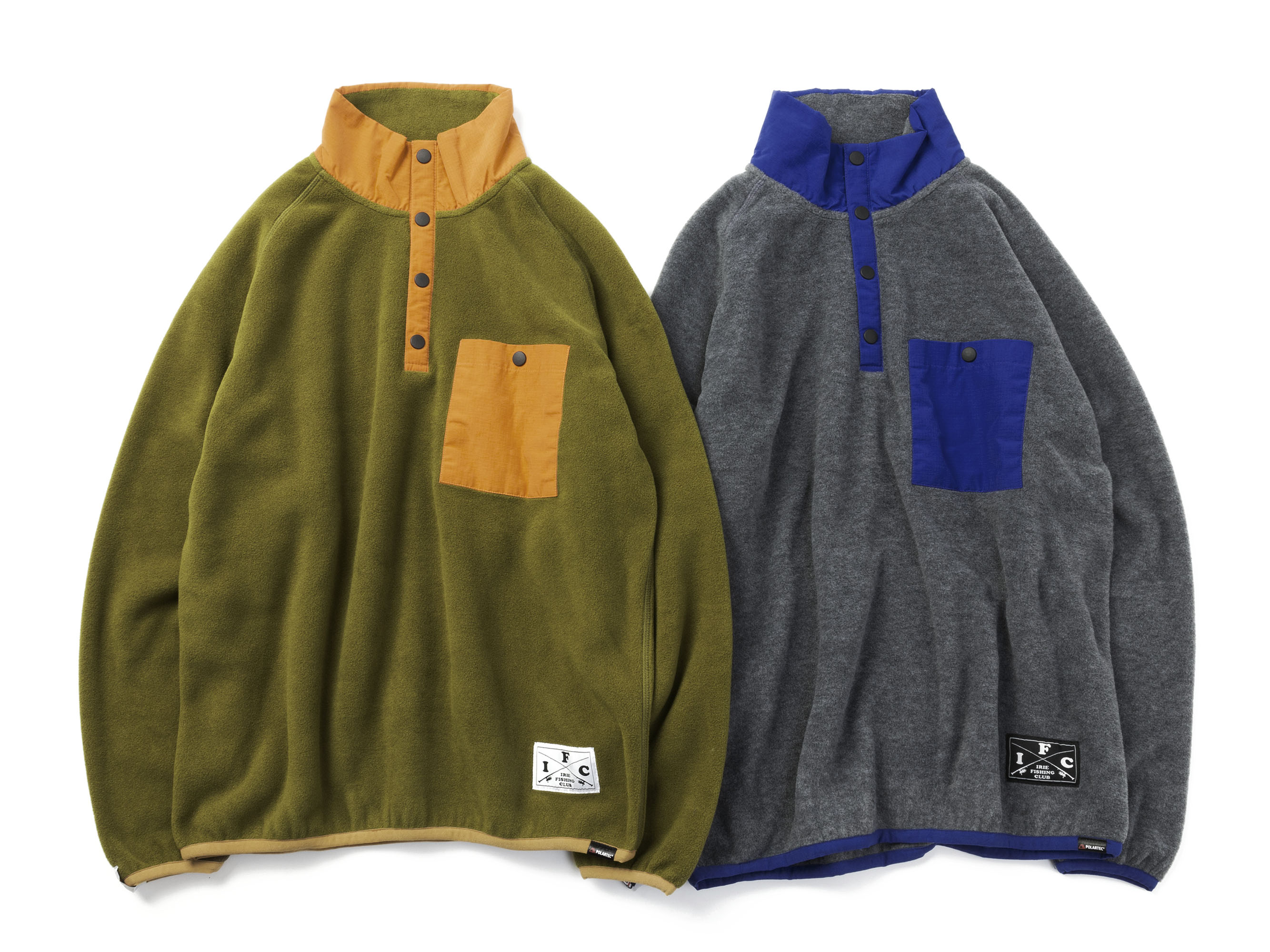 IFC FLEECE SNAP TOP - IRIE FISHING CLUB