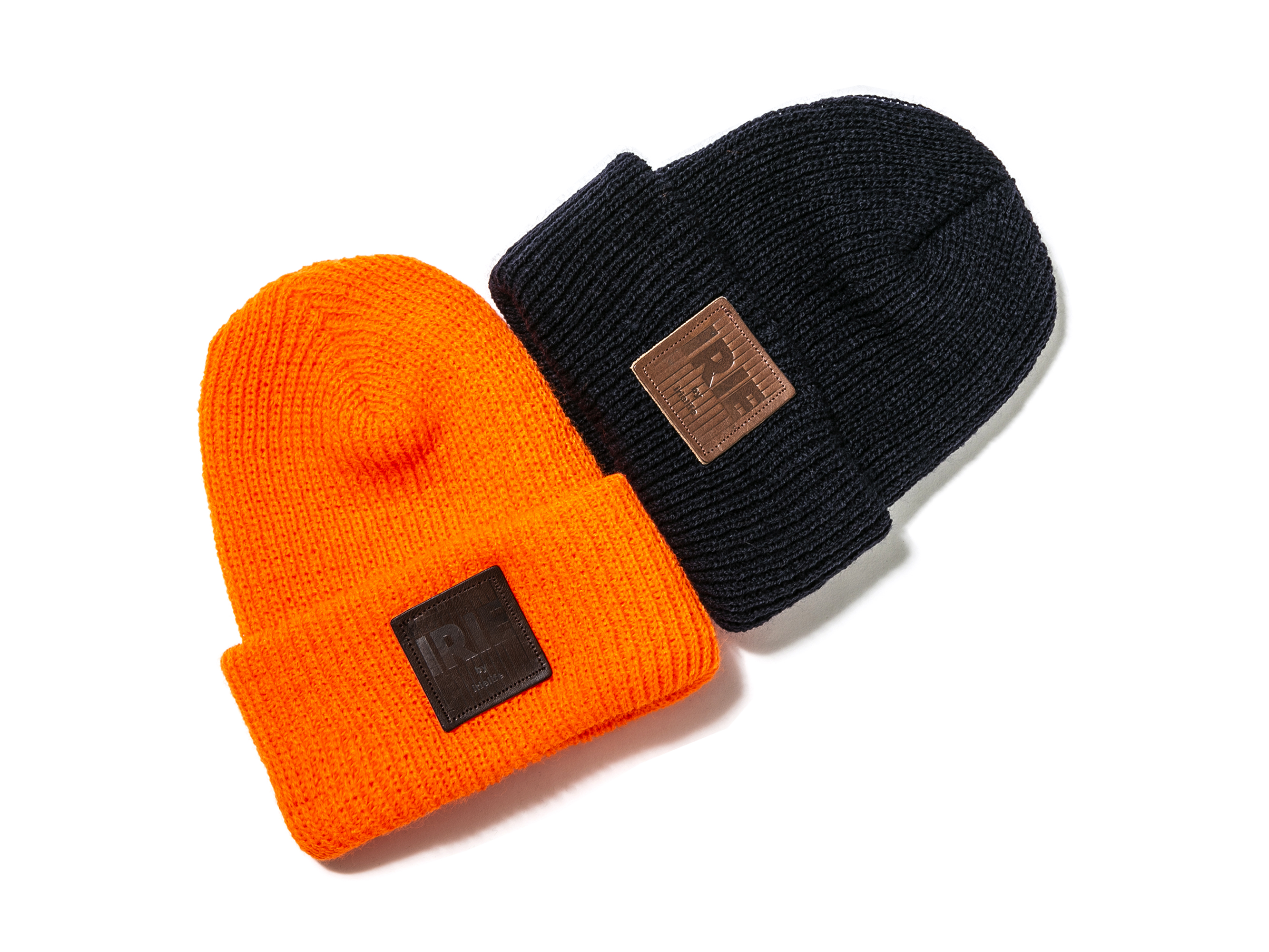 【20% OFF】LEATHER PATCH KNIT CAP - IRIE by irielife
