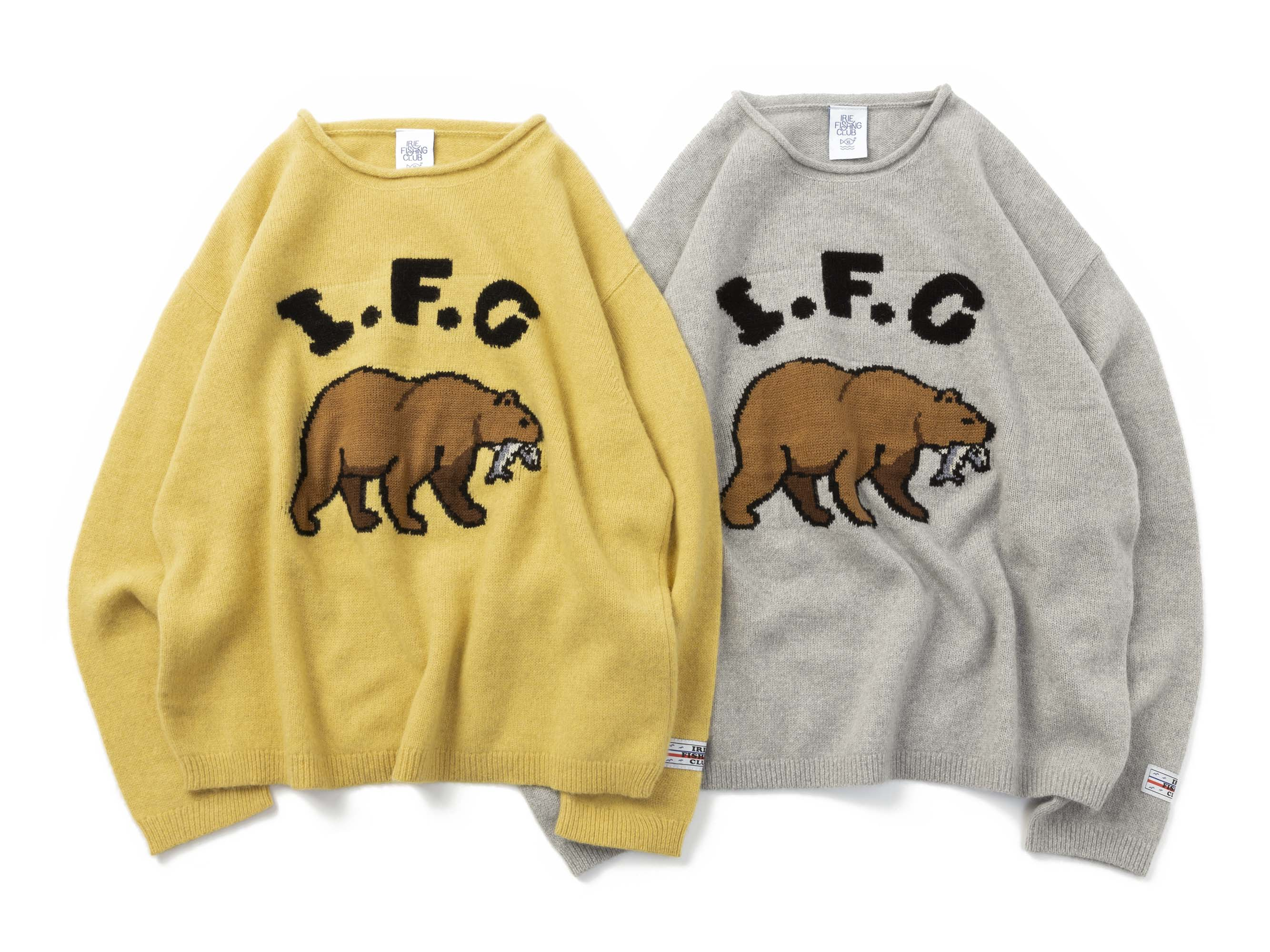 IFC BEAR KNIT CREW - IRIE FISHING CLUB