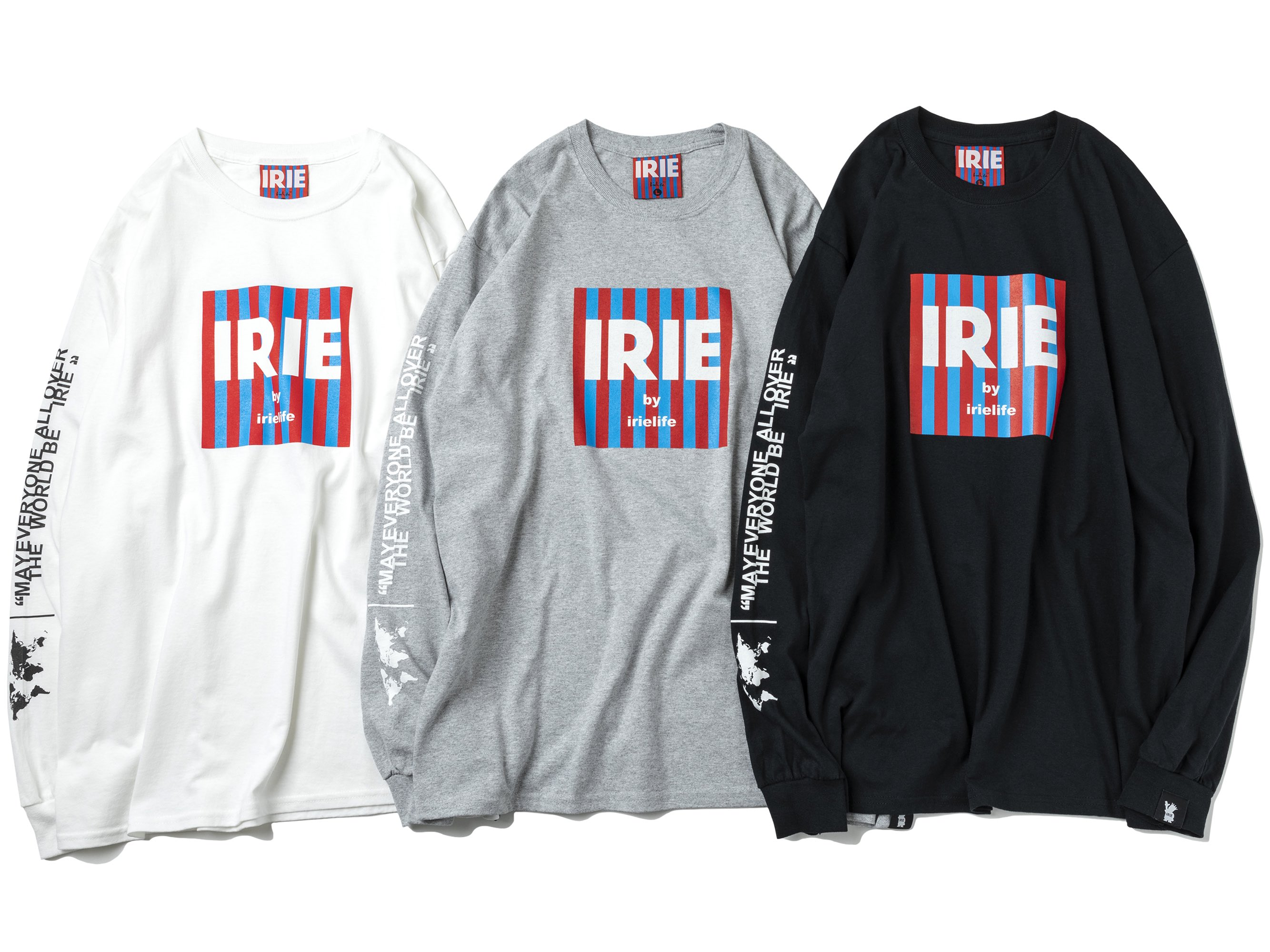 WORLD BE IRIE L/S TEE (Raggachina LIMITED) - IRIE by irielife