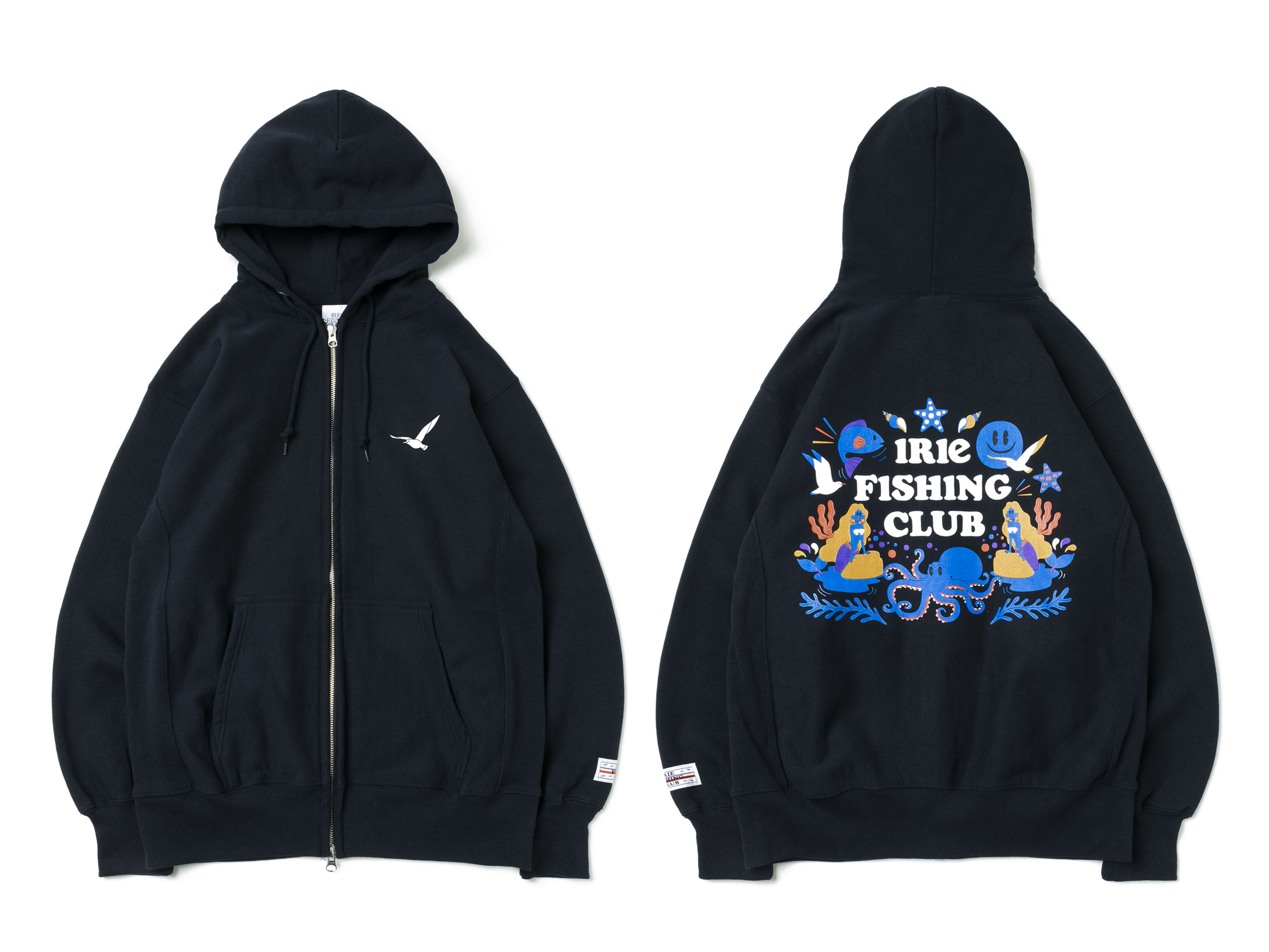 UNDER THE SEA ZIP UP PARKA - IRIE FISHING CLUB