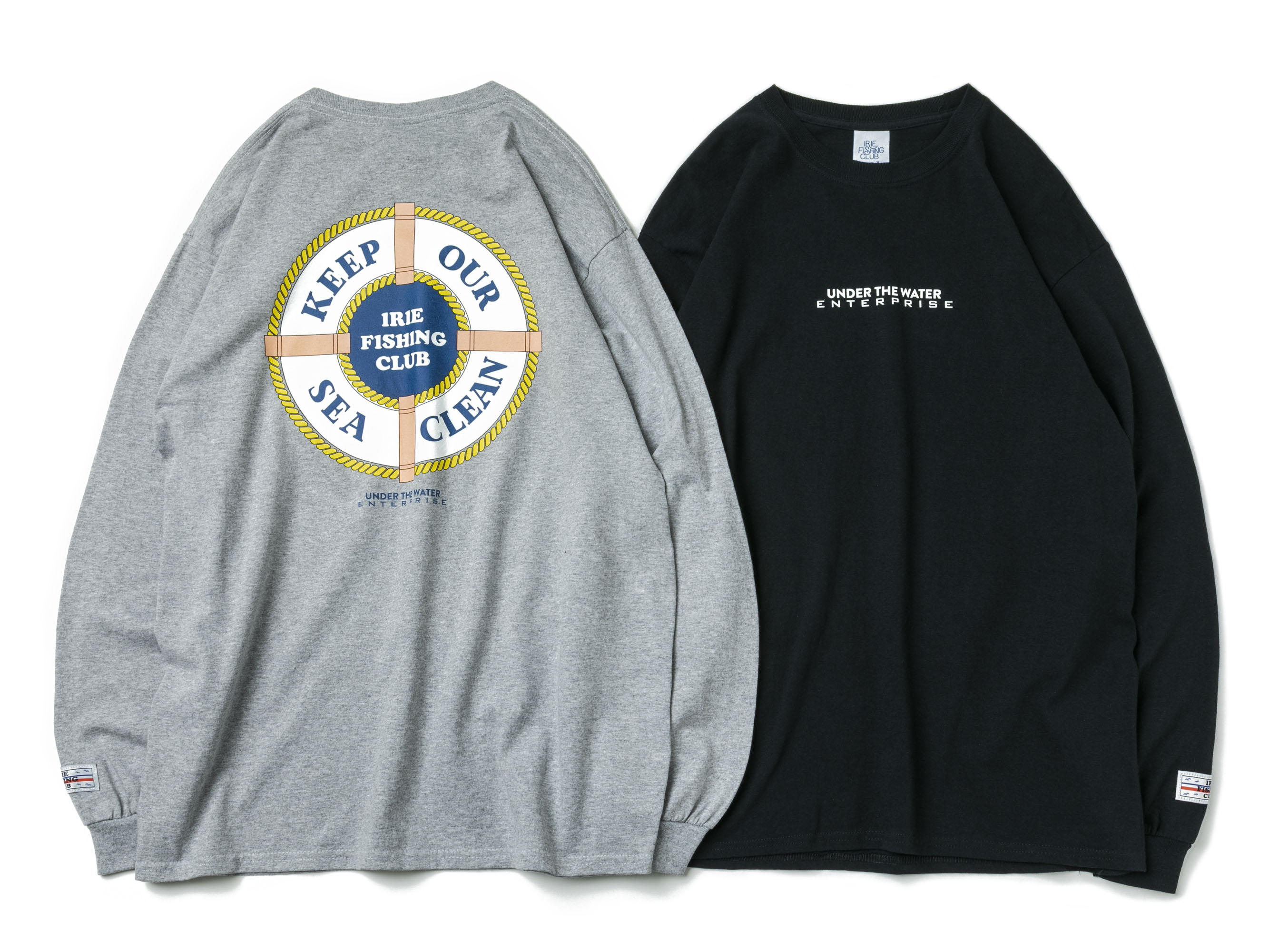 CLEAN OUR SEA L/S TEE - IRIE FISHING CLUB