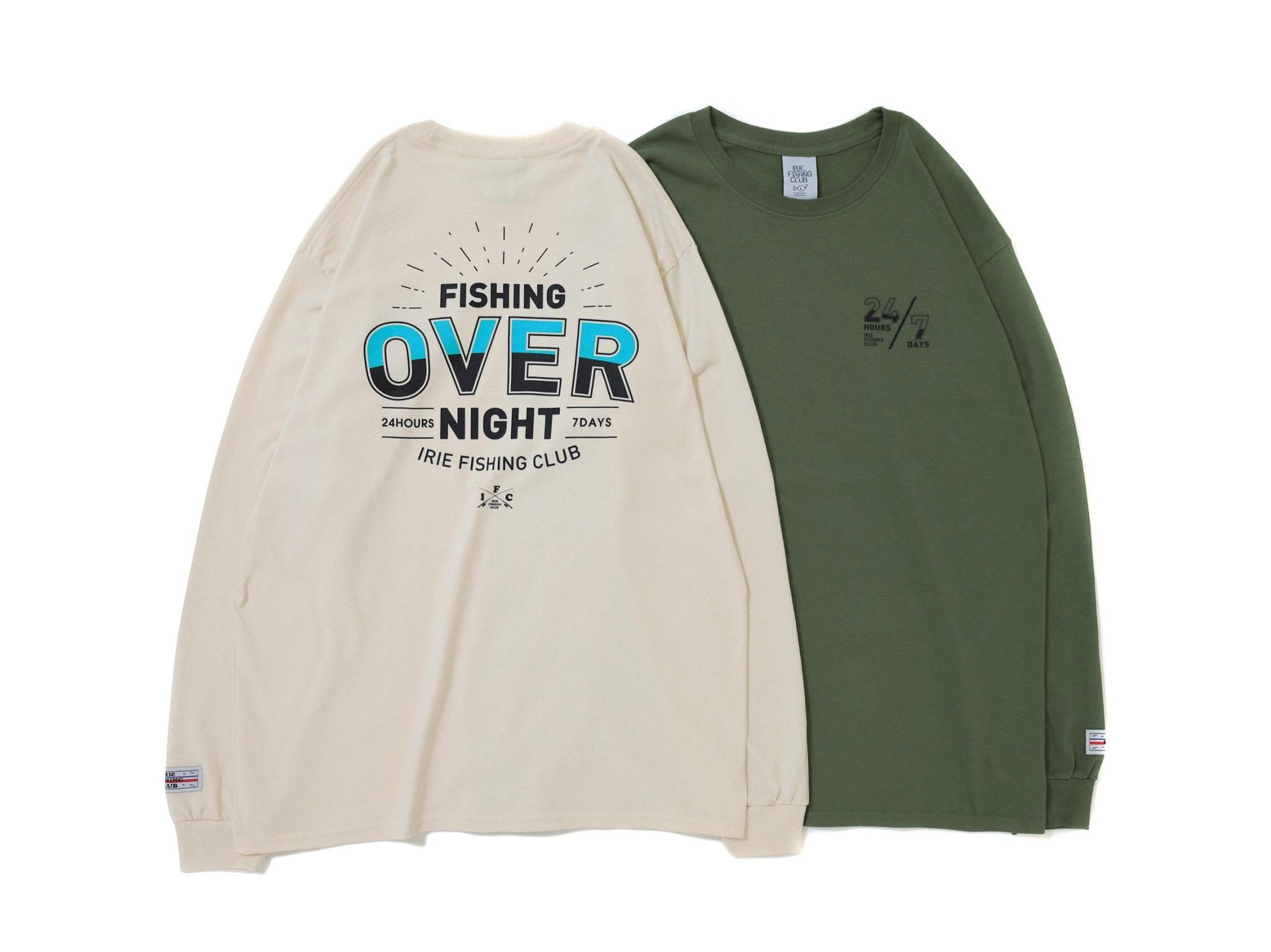 24/7 OVER NIGHT L/S TEE - IRIE FISHING CLUB